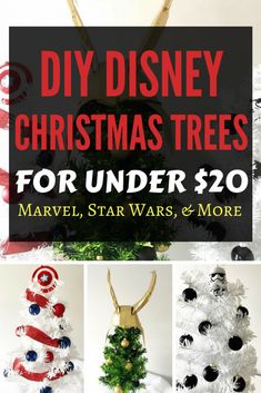 Diy Disney Christmas Trees On A Budget For Under Check Happy New Year Disney Christmas Crafts, Disney Christmas Decorations, Christmas Trees For Kids, Merry Christmas, Mickey Mouse Christmas, Easy Halloween Decorations, Painted Christmas Ornaments, Christmas Tree Themes, Disney Crafts