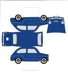 Printable art toys drawings old cars Pop Can Crafts, Paper Crafts For Kids, Preschool Crafts, Diy And Crafts, Foam Crafts, Paper Model Car, Paper Car, Paper Models, Cardboard Toys