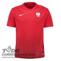 Segunda camiseta de futbol baratas polonia 2016