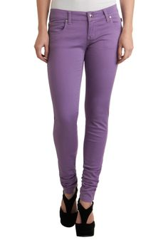 Lavender Splendor Jeans - Long, Purple, Solid, Pockets, Casual, Denim- modcloth.com : I love the color but that would be hard to pull off