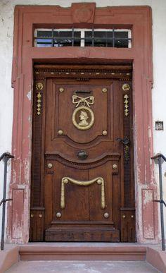 Door, Ingelheim am Rhein, Rhineland-Palatinate, Germany