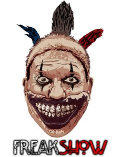 American Horror Story- Twisty the Clown T-Shirt Design