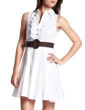 Ruffled-Front Shirt Dress @ Charlotte Russe $32.99