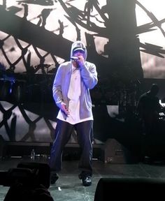 """American rapper Eminem has often been most associated as the """"King of Hip Hop"""" seen here at the DJ Hero Party in Los Angeles June 1 2009"""