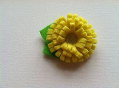 Sunny Yellow Flower Hair Clip, $6.50