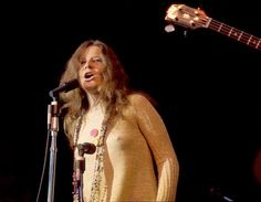 Blues-rock singer Janis Joplin burst on the scene in 1967 at the Monterey Pop Festival. Lead singer of psychedelic-acid rock band Big Brother and the Holding Company.