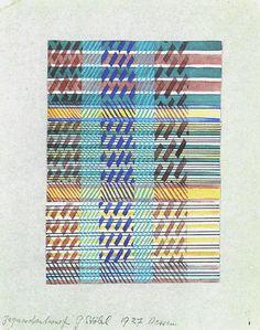 Gunta Stölzl . Design for a Jacquard woven fabric. Bauhaus Dessau, 1927. Collection, Metropolitan Museum of Art. Gift of Jack Lenor Larsen.