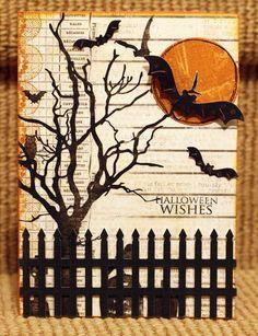 Card: Halloween Wishes Card *Cheery Lynn Designs*