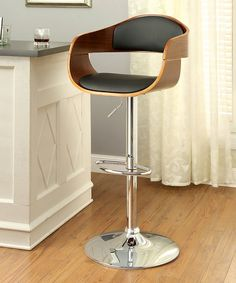 Another great find on #zulily! Brown Maximo Leatherette Swivel Barstool #zulilyfinds