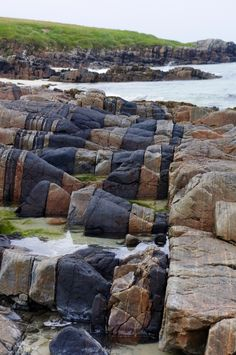 Hosta Beach rock formations - North Uist, Outer Hebrides, Scotland