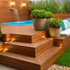 Hot Tub Backyard, Small Backyard Pools, Small Pools, Backyard Pool Designs, Backyard Garden Design, Swimming Pools Backyard, Backyard Landscaping, Lap Pools, Indoor Pools