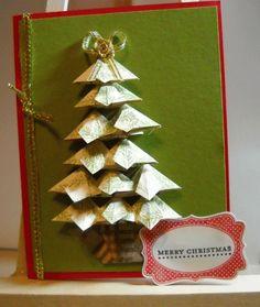 Tea bag folding Christmas tree