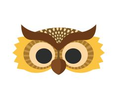 Download this Night Owl Printable Mask and other free printables from MyScrapNook.com