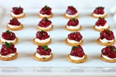 Cranberry, Dijon and Cream Cheese Appetizer - I Adore Food!