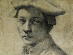 Michelangelo Buonarroti, Portrait of Andrea Quaratesi, drawing (Detail) Italy, around AD 1532. His only surviving portrait drawing.