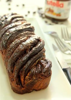 Triple chocolate yeast cake