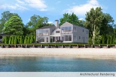 New house being built on spectacular Sag Harbor waterfront overlooking Shelter Island Sound. Modern design accented with large amount of glass on waterside, capturing panoramic open bay. This house will feature 5 bedrooms ensuite…4 of which will face expansive waterviews. State of the art kitchen, living room and dining room will all have the same expansive waterside views. Facing the bay will be a waterside 20×40 gunite pool, tateful sitting area and dock potential. Property is also being…