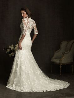 Half Sleeve Lace Bridal Wedding Dress Custom Modest Gown My Someday