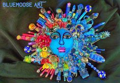 "BLUENOSE ART  $575  15-17"".  The Fantastic Bead Mosaics© Sun Series. PEACE Planet by bluemoose"