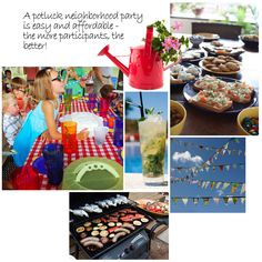 Bring your neighborhood together with a block party, tag sale, potluck party or outdoor game night! I Party, Party Ideas, Neighborhood Party, Celebrate Good Times, Block Party, Summer Picnic, Getting To Know You, Picnics, Organization Ideas
