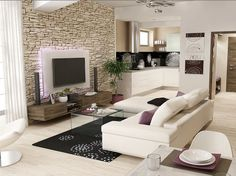 Návrhy interiérů Living Room Designs, Living Room Decor, Modern Wall Units, Tv Wall Design, Ideal Home, House Plans, New Homes, Interior Design, Furniture