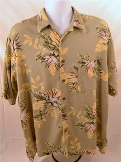 Nautica Men's Size XL Short Sleeve Rayon Blend Island Casual Wear Shirt #Nautica #Hawaiian
