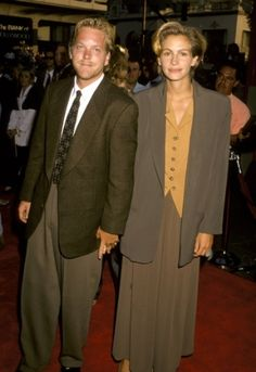 Kiefer Sutherland & Julia Roberts were engaged in 1990 and split before their 1991 wedding