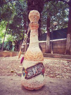 Cam şişe dizaynı_ geri dönüşümü _Dekoratif Hediye_/ Antik güzel - DIY Bottle_ Bottle crafts_Handmade Gifts_ / Lovely ancient