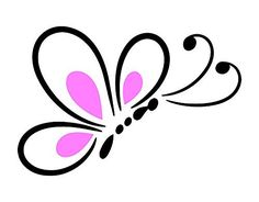 Butterfly Wall Decal is a High Quality Vinyl Wall Decal Displaying a Pink and Black Butterfly's Wing.