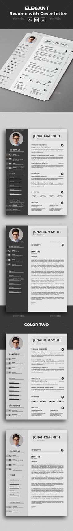 Resume — PSD Template #resume booklet #resume • Download ➝ https://graphicriver.net/item/resume/18528282?ref=pxcr: