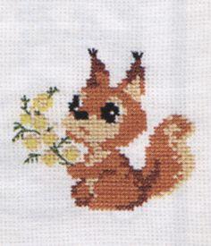 Small Squirrel Cross Stitch Kit By Riolis