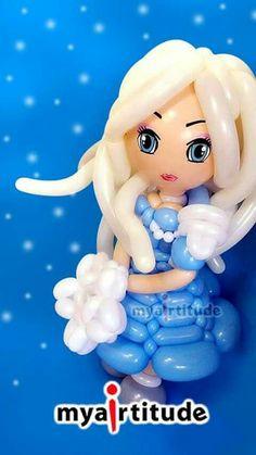 1st Birthday Games, Tea Party Birthday, Balloon Crafts, Balloon Decorations, Frozen Balloons, Balloon Face, Balloon Cartoon, Balloon Modelling, Princess Tea Party
