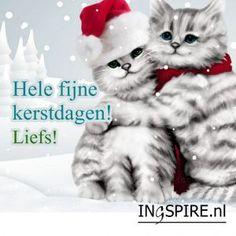 Kerstkaart: Hele fijne kerstdagen, liefs!