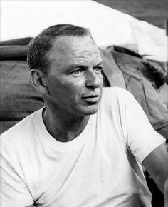 """Frank Sinatra on the set of """"Von Ryan's Express"""" 1965"""