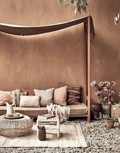 Hot Summer Terracota: Terracotta it's a warm, creamy, natural, rich, full-bodied color and it can complement many interior design styles. Color Inspiration, Interior Inspiration, Color Terracota, Home Interior, Interior Design, Color Interior, Interior Color Schemes, Home Design, Villa Design