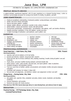lpn resume cover letter sample resume pinterest nursing