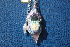 DEA MADRE (Mother Goddess)-Native Ametist and piramidal fluorite-Flower of life symbol-