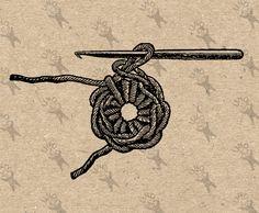 Vintage retro drawing Knitting Crochet image Instant Download printable Vintage picture clipart digital graphic burlap, transfer etc 300dpi #hq #png #bw #Ephemera #diy #old #book #illustration #gravure #transfer #decor #hand #digital #collage #scrapbooking #quality #inspiration #retro #antique #vintage #300dpi #craft #draw #drawing  #black #white #printable #crafts