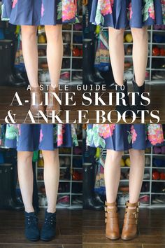 How to Style Your A-Line Skirts and Dresses with Ankle Boots