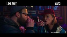 """Long Shot is in theaters everywhere May 3 starring Seth Rogen and Charlize Theron. Bottoms up for being """"the first must-see comedy of Long Shot, Charlize Theron, Powerful Women, Che Guevara, Comedy, Crushes, Shots, Comedy Theater"""