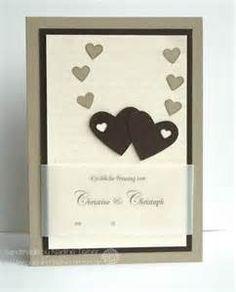 Wedding card, stampin up, hearts,