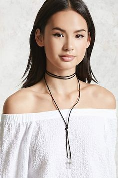 Forever 21 is the authority on fashion & the go-to retailer for the latest trends, styles & the hottest deals. Shop Forever, Forever 21, Stone Necklace, Pendant Necklace, Chain Pendants, Crystal Pendant, Stones And Crystals, Summer Outfits, Summer Clothes