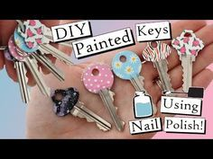 How To Paint Your Keys With Nail Polish | FIVE DESIGNS! - http://www.nailtech6.com/how-to-paint-your-keys-with-nail-polish-five-designs/