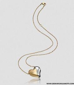 Breil gioielli collana Heartbreaker  collana in acciaio ip oro giallo e alluminio champagne modello tj1428 www.demarchigianotti.com