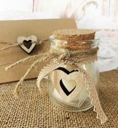 Μπομπονιέρα Γάμου βαζάκι με ξύλινη καρδούλα   Typo Napkin Rings, Diy And Crafts, Wedding, Home Decor, Valentines Day Weddings, Decoration Home, Room Decor, Weddings, Home Interior Design