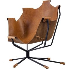 Special Edition Dan Wenger Sling Chair, USA, 1970s ❤ liked on Polyvore featuring home, furniture, chairs, wenger chair, 1970s furniture, wenger, black chair and black furniture