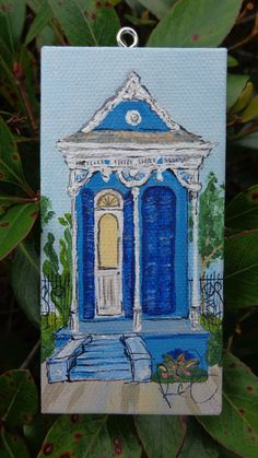 Bildergebnis für new orleans shotgun house art Shotgun House, Louisiana Art, New Orleans Art, La Art, Muse Art, House Ornaments, Art Projects, Crafty Projects, Beautiful Paintings