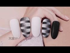 【Watchnail Teach Me-651th phase】Frosted Double Striated Gradient【窝趣美甲你求窝教-第651期】磨砂双层条纹渐变.mp4 - YouTube