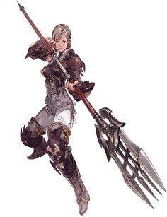 Hyur Female Lancer from Final Fantasy XIV: A Realm Reborn