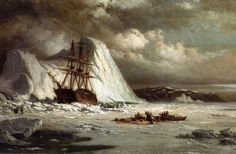 The artwork Icebound Ship - William Bradford we deliver as art print on canvas, poster, plate or finest hand made paper. William Bradford, Ship Paintings, Seascape Paintings, Famous Artists, Great Artists, Serenade Of The Seas, Majesty Of The Sea, Royal Caribbean Ships, Nautical Art